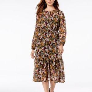 Maison Jules Lace Floral Maxi Dress Size S NWT